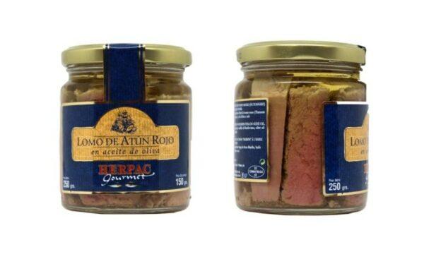 Tarro de lomo de atún rojo en aceite de oliva