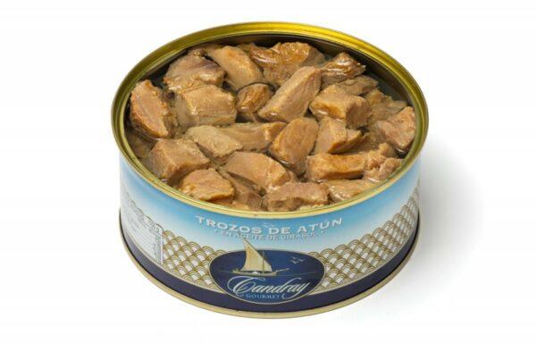 Trozos de atún en aceite de girasol